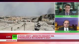 آزادسازی شهر المیادین سوریه و دفع حمله تروریستهابا کمک هوایی روسیه