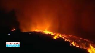 تصاویر هوایی از گردباد آتشین در پرتغال