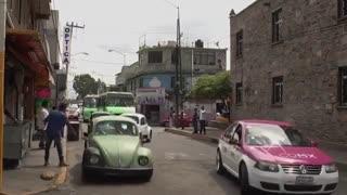 محلهای در مکزیکوسیتی، پایتخت فولکسواگن قورباغهای در جهان