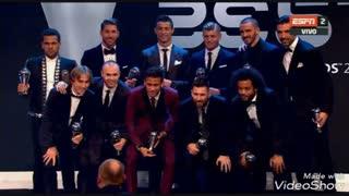 کریستیانو رونالدو بهترین بازیکن مرد فصل 2016/2017 شد