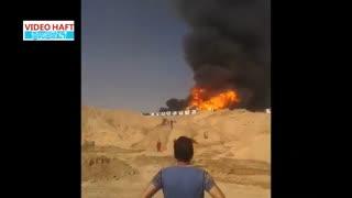 آتش سوزی در دکل ٩٥ شرکت ملی حفاری