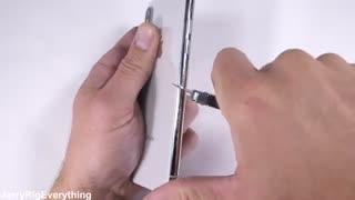 تست مقاومت آیفون x در برابر خط و خش و سوختگی