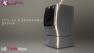 شستشوی همزمان دو سری لباس با LG TWIN WASH