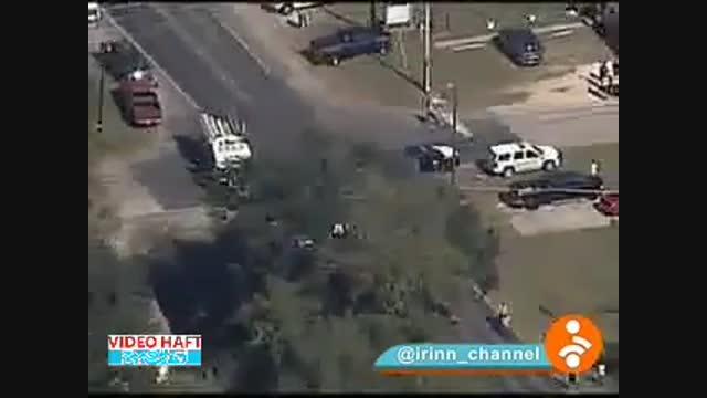 تصاویر هوایی از حمله به کلیسایی در تگزاس آمریکا