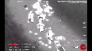 بارانِ آتشِ نیروهای آمریکایی بر سر تروریستها
