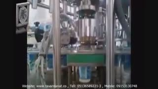 ویدئو دستگاه پرکن ظروف لیوانی روتاری (چهار لاین)
