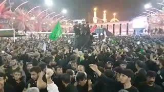 مداحی شب اربعین حاج مهدی رسولی در بین الحرمین