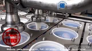 دستگاه پرکن و سیلکن ظروف لیوانی چهار لاین لبنیات ماست