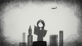 یه انیمیشن با آهنگ paper crown