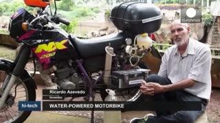 موتور سیکلتی که با آب کار میکند!