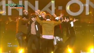 اجرای معرکه ی اهنگ Beautiful از wanna one در برنامه ی این هفته ی Music Bank