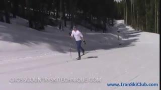 تکنیک گام مورب در اسکی نوردیک کلاسیک