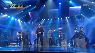 اجرای اهنگ wanna از گروه wanna one در برنامه ی این هفته ی Music Bank