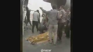 تصادف وحشتناک در جاده اهواز - رامهرمز به دلیل گرد و غبار هوا