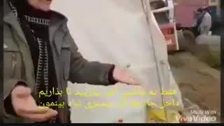 باران در چادر زلزلهزدگان