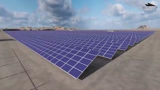 مدل سازی سه بعدی و انیمیشن نیروگاه خورشیدی 10 مگاواتی