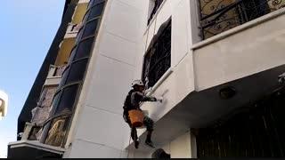 رنگ آمیزی نما-آذرخش ساختمان کهن