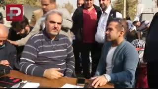 مهمانی خیابانی آقای مجری و خانم بازیگر در شهرک غرب تهران