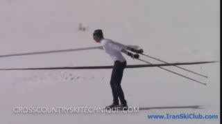 تکنیک باتوم گذاری یک گامی در اسکی نوردیک کلاسیک