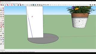 طراحی گلدان در اسکچاپ (مرور ابزار Follow me)