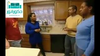 تغییر دکوراسیون داخلی آشپزخانه با کاشی استیل