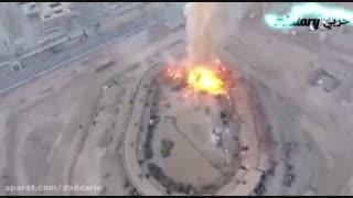 حمله داعش با کوادکوپتر مسلح به انبار مهمات غنیمتی ارتش سوریه در دیرالزور