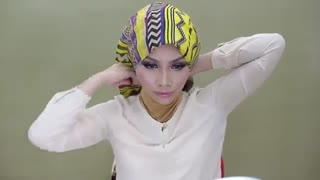 روش جدید بستن شال و روسری