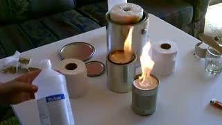 ساخت بخاری با دستمال کاغذی