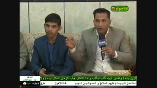 أحد شباب عشیرة العناجید الخالدی یلقی الشعر بحضور أبناء عمومته