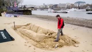 فایل باز|تایم لپس ساخت مجسمه های شنی