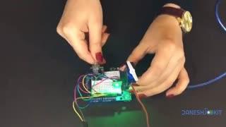 آموزش ماژول روتاری انکودر از پکیج 37 سنسور آردوینو + سرو موتور + LED RGB