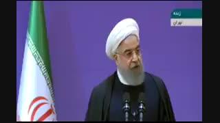 صحبت های حسن روحانی در مورد اعتراضات اخیر و آشغال نامیده شدن معترضان