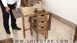 میز ناهارخوری تاشو چوبی