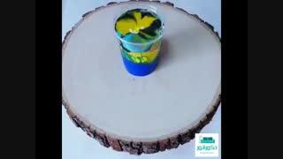 رنگ آمیزی کهکشانی میز چوبی