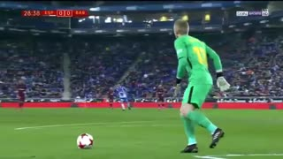 خلاصه فوتبال اسپانیول ۱-۰ بارسلونا