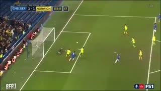 خلاصه فوتبال چلسی ۱(۵) - (۳)۱ نوریچ سیتی