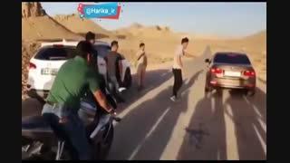 مسابقه بین BMW  و موتور سنگین در ایران