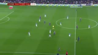 نیمه اول بازی بارسلونا 2-0 اسپانیول ( 6 بهمن 96 )