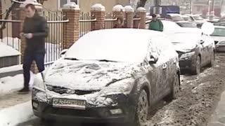 بارش  وحشتناک برف در مسکو