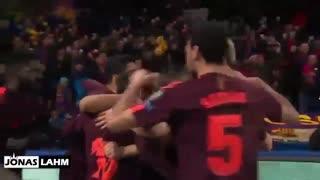 اولین گل لیونل مسی به چلسی ( 1 اسفند 96 )
