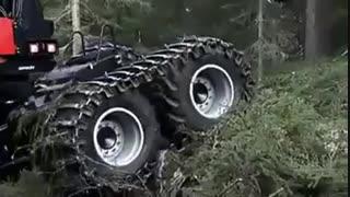 ماشین برش چوب tree harvester