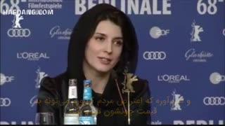 حرف های احمقانه لیلا حاتمی و حمایتش از آشوبگران و دراویش قاتل