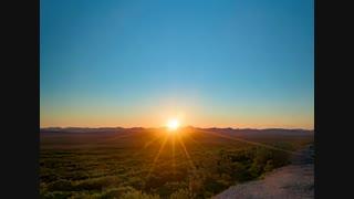 حرکت خورشید در آلاسکا در روزهای بی پایان