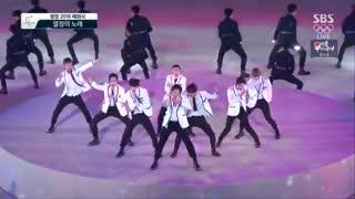 فول کات اجرای فوق العاده گروه کره ای اکسو در اختتامیه المپیک  زمستانی پیونگ چانگ کره جنوبی 2018.2.25