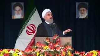 سخنرانی حسن روحانی در سفر استانی به بندرعباس