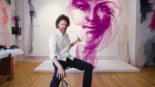 خلق نقاشی های زیبا با پارچه