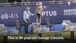 شناگر ۹۹ ساله استرالیایی، رکورد جهانی در گروه سنی خودش را شکست