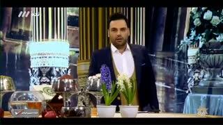 گفتگوی داغ احسان علیخانی و رضا رشیدپور در برنامه نوروزی بهار نارنج (1)