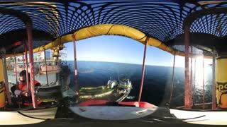 واقعیت مجازی لحظات انتقال پرسنل دکل حفاری نفتی پاسارگاد 100 شرکت گسترش انرژی پاسارگاد از روی کشتی بر روی عرشه دکل از طریق بسکت