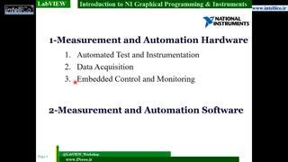 آموزش LabVIEW قسمت 1 مقدمه شرکت National Instruments معرفی تجهیزات دیتالاگر و نمونه برداری DAQ این شرکت